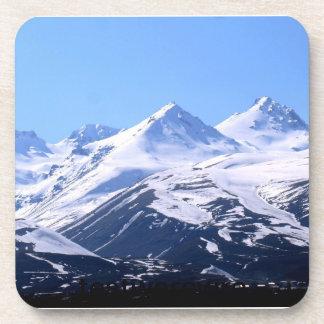 mountain locked, text no edit drink coaster