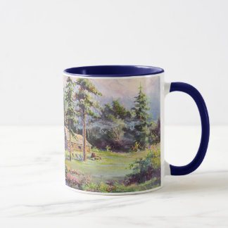 MOUNTAIN LOG CABIN by SHARON SHARPE Mug
