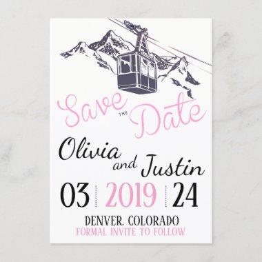 Mountain Love Save the Date Invitation
