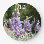 Mountain Lupins at Yosemite Large Clock