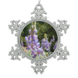 Mountain Lupins at Yosemite Snowflake Pewter Christmas Ornament