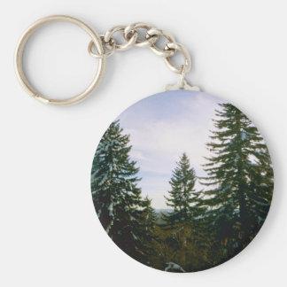 Mountain Magic Basic Round Button Keychain