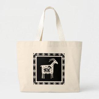 Mountain Mama Goat with Baby Jumbo Tote Bag