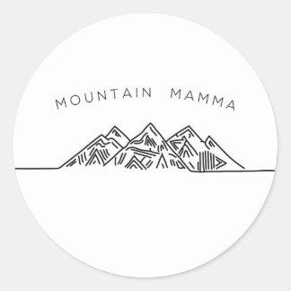 Mountain Mamma Classic Round Sticker