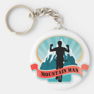 Mountain Man Keychain