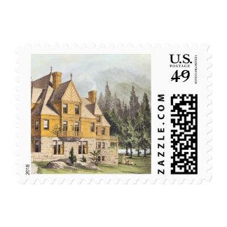 Mountain Mansion Stamp