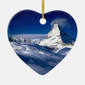 Mountain Matterhorn Valais Switzerland Ceramic Ornament