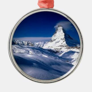 Mountain Matterhorn Valais Switzerland Metal Ornament