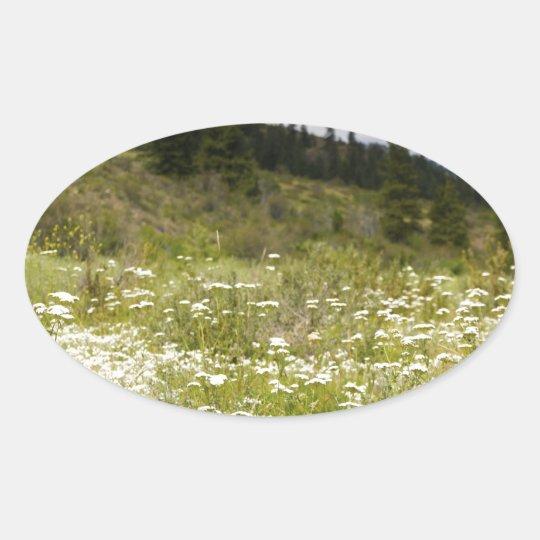Mountain Meadow Oval Sticker