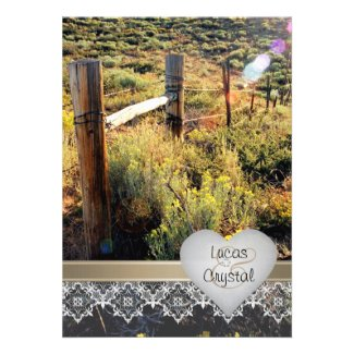Mountain Meadow Rustic Wedding Invitation