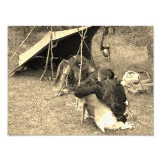 Mountain Men At Camp Photo Print