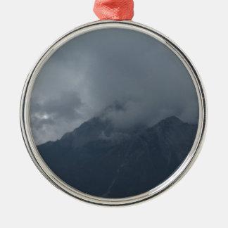 mountain metal ornament