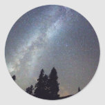 Mountain Milky Way Stary Night View Sticker
