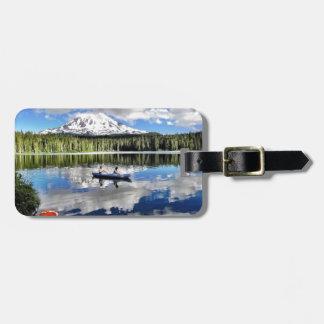 Mountain Mirror Bag Tag