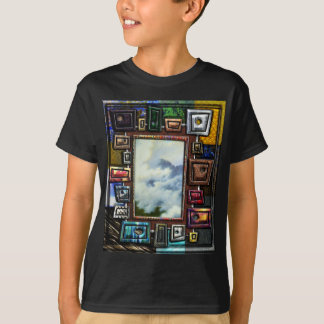 Mountain Mist Framed by Shapes and textures T-Shirt