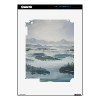 Mountain Misty Lake Peaceful Blue Landscape Skins For The iPad 2