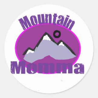 Mountain Momma Classic Round Sticker
