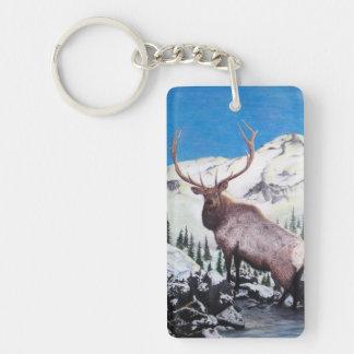 Mountain Monarch - Elk Keychain