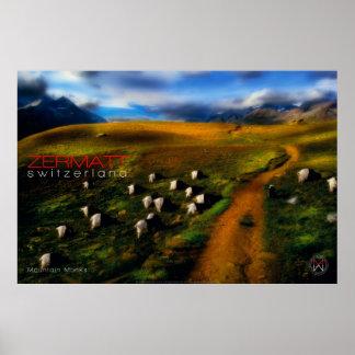 Mountain Monks Poster