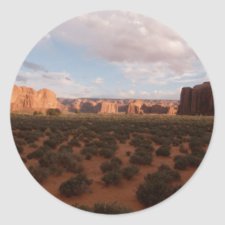 Mountain Monument Valley Round Stickers