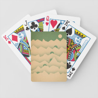 Mountain Moon Rising Bicycle Playing Cards
