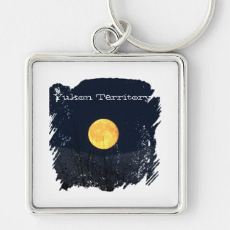 Mountain Moon; Yukon Territory Souvenir Keychain