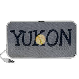 Mountain Moon; Yukon Territory Souvenir Mini Speakers