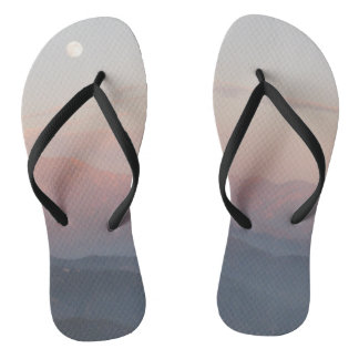 Mountain Moonrise Flip Flops