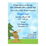 Mountain Moose Baby Shower Invitation for Boys