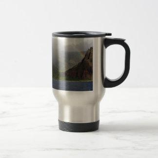 Mountain Napali Coast Rainbow Travel Mug