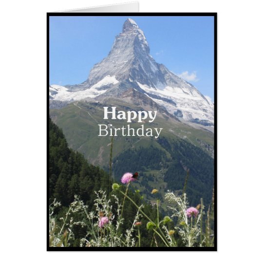 Mountain nature photography Happy Birthday card – Mountain Birthday Cards