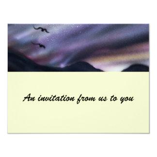 Mountain night sky 4.25x5.5 paper invitation card