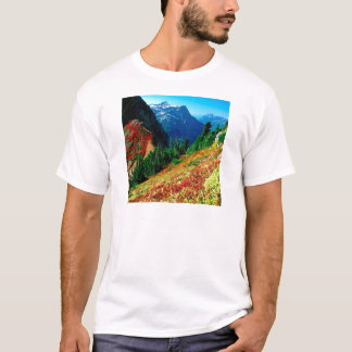 Mountain North Cascades In Autumn Baker T-Shirt