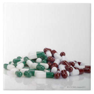 Mountain of Pills Large Square Tile