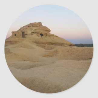 Mountain of the dead, Siwa, Egypt Classic Round Sticker