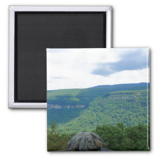 Mountain Overlook 2 Inch Square Magnet