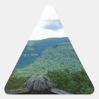 Mountain Overlook Triangle Sticker