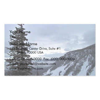 Mountain overlook with snow Double-Sided standard business cards (Pack of 100)