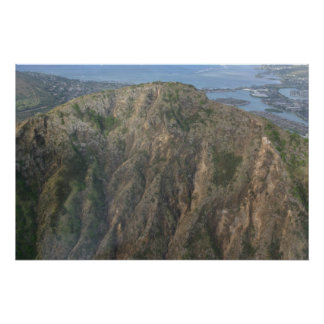 Mountain overlooking the bay and Pacific Ocean Poster