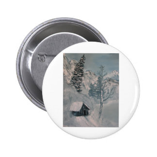 Mountain Painting Pinback Button