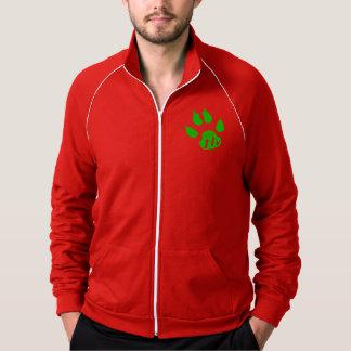 """Mountain Party Spirit"", w/hoodie American Apparel Fleece Track Jacket"