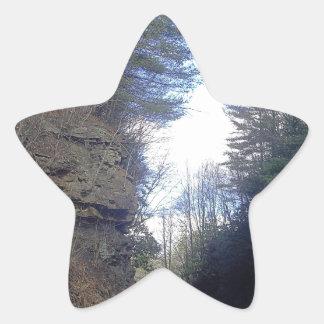 Mountain Pass Star Sticker