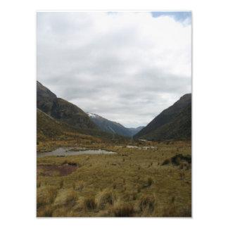 Mountain pass, Transalpine train trip, New Zealand Photo Print