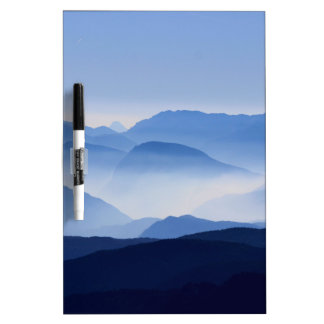 Mountain Passes in Clouds and Mist Dry Erase Board