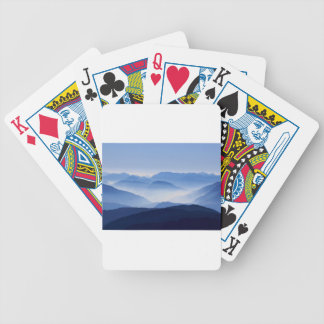 Mountain Passes in Clouds and Mist Bicycle Playing Cards