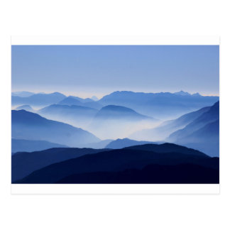 Mountain Passes in Clouds and Mist Postcard