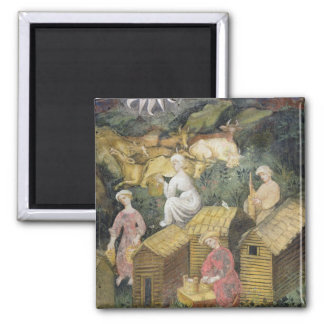 Mountain pastures 2 inch square magnet