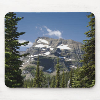 Mountain Peak Between Trees Under A Blue Sky Mouse Pad