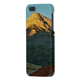 MOUNTAIN PEAK LIT AT SUNSET IN HIGH DESERT iPhone SE/5/5s COVER