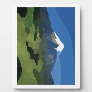 Mountain Peak Plaque